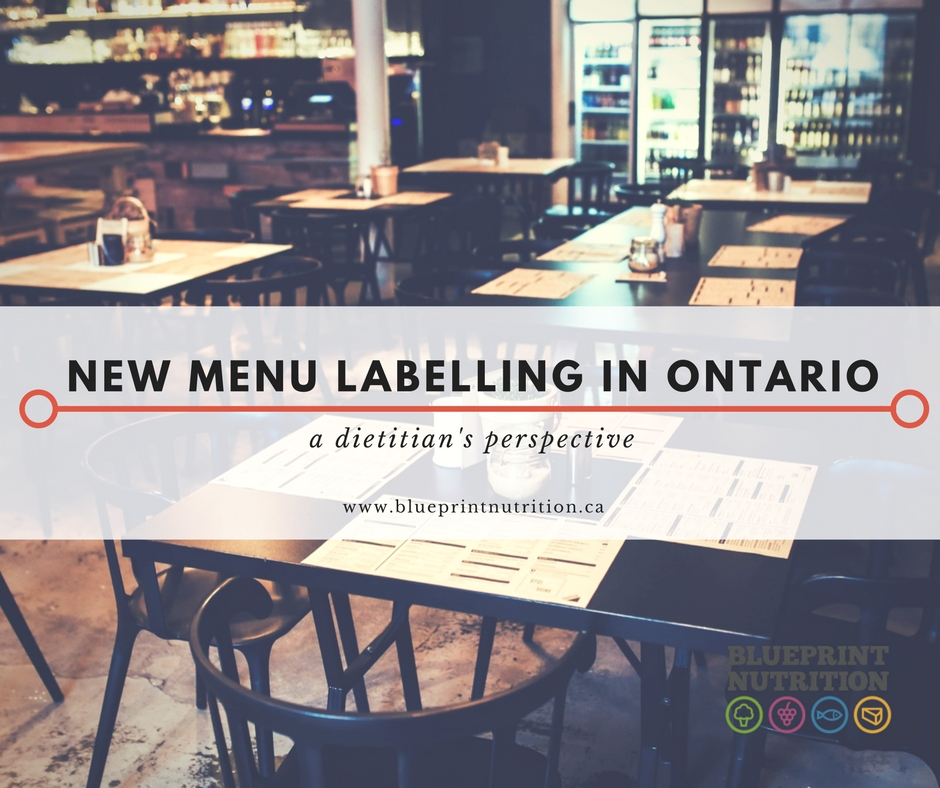 New Menu Labelling in Ontario: a dietitian's perspective