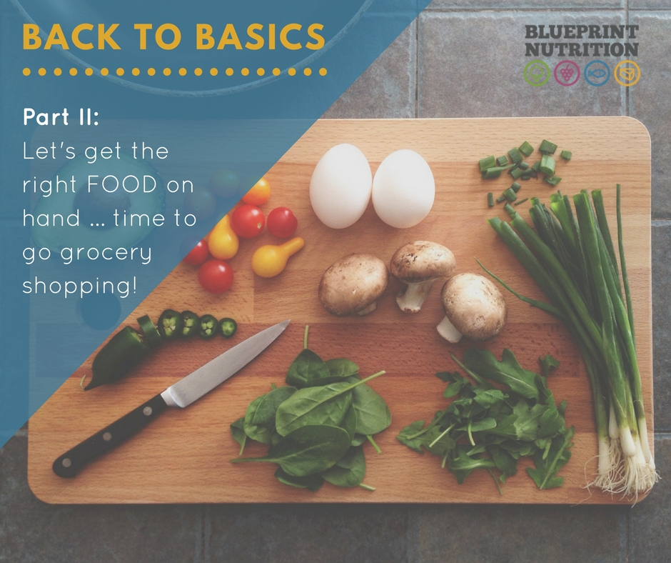 Back to Basics – Part II: It's time to go grocery shopping!