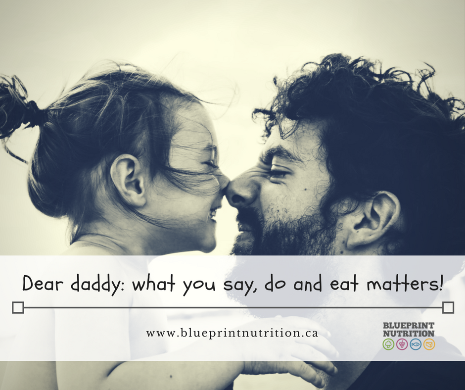 Dear daddy: what you say, do, and eat matters!