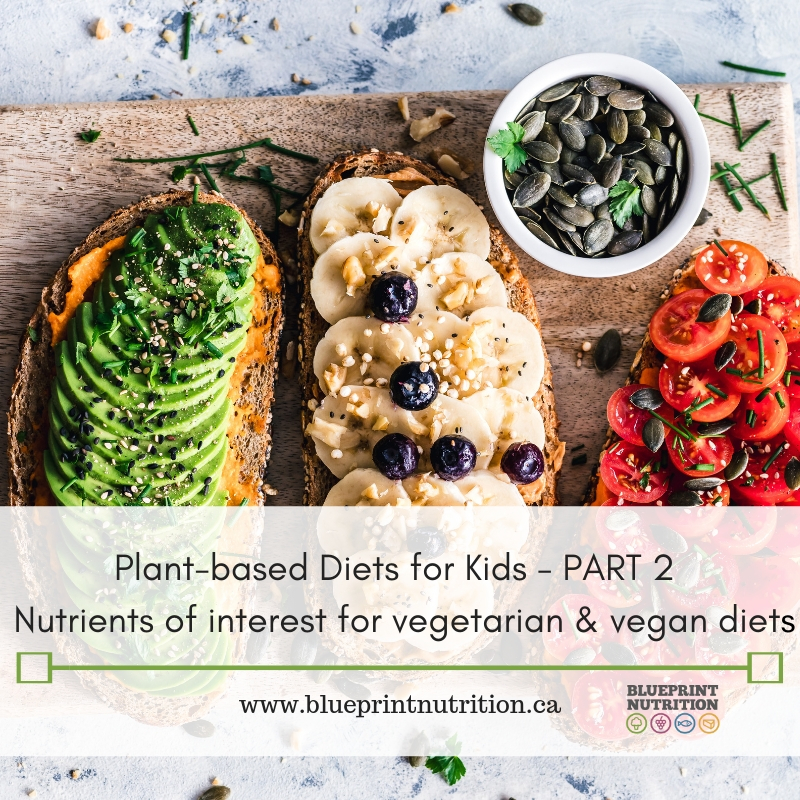 Plant-based Diets for Kids Part 2: Nutrients of Interest for Vegetarian and Vegan